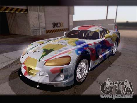 Dodge Viper Competition Coupe for GTA San Andreas bottom view
