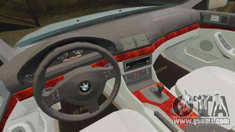 BMW 525i (E39) for GTA 4 inner view
