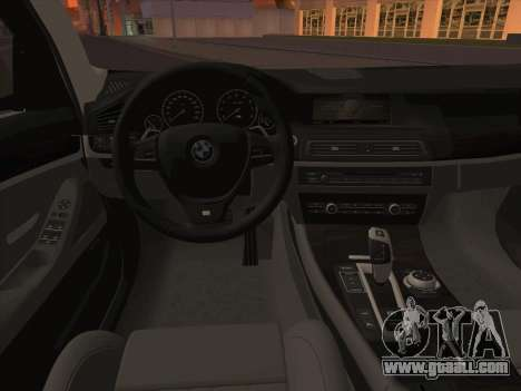 BMW M5 F11 Touring for GTA San Andreas bottom view
