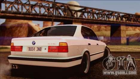 BMW 535i E34 Mafia Style for GTA San Andreas interior