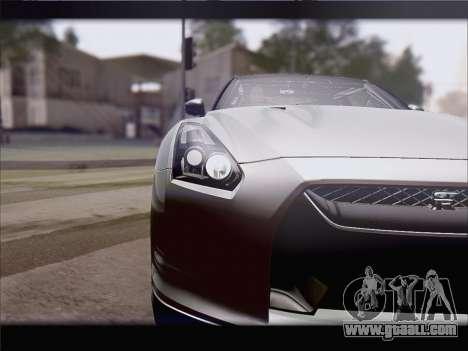 Nissan GT-R Spec V Stance for GTA San Andreas back left view
