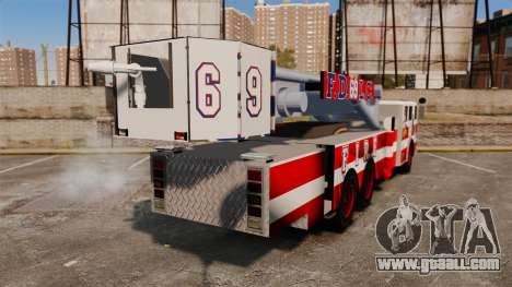 MTL Firetruck Tower Ladder FDLC [ELS-EPM] for GTA 4 back left view