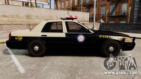 Ford Crown Victoria 1999 Florida Highway Patrol for GTA 4 left view