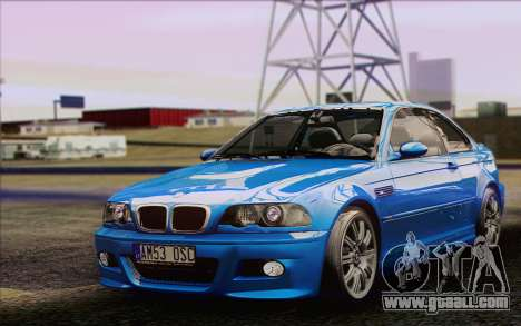 BMW M3 E46 2005 for GTA San Andreas left view