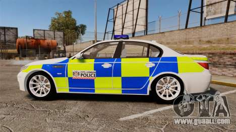 BMW M5 E60 City Of London Police [ELS] for GTA 4 left view