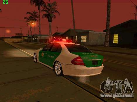 Mercedes-Benz  E500 Polizei for GTA San Andreas side view