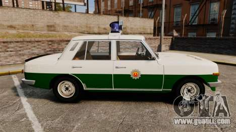 Wartburg 353 W Deluxe Polizei for GTA 4 left view