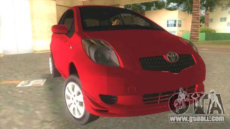 Toyota Yaris for GTA Vice City back view