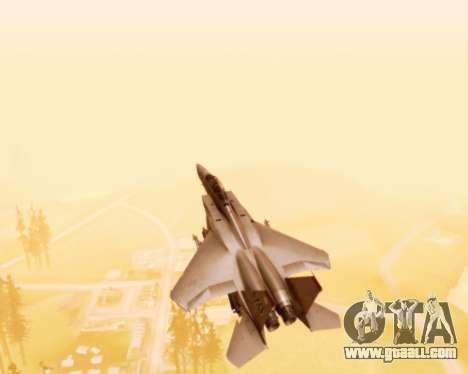 F-15E Strike Eagle for GTA San Andreas upper view