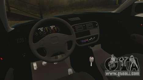 Honda Civic EK for GTA 4 inner view