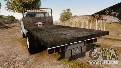 GMC Flatbed [ELS] for GTA 4 back left view