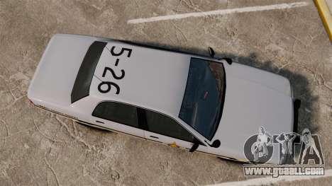 GTA V Vapid Police Cruiser Scheriff [ELS] for GTA 4 right view