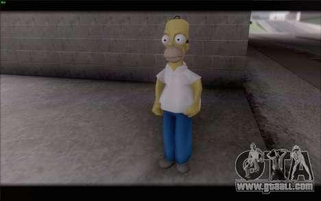 Homer Simpson for GTA San Andreas