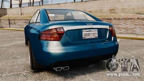 GTA V Tailgater (Michael Car) for GTA 4 back left view