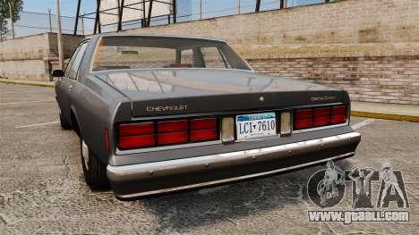 Chevrolet Caprice 1989 v2.0 for GTA 4 back left view