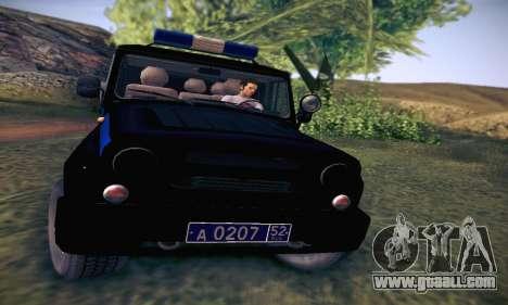 Uaz Hunter Police for GTA San Andreas inner view