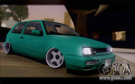 Volkswagen Golf Mk3 for GTA San Andreas inner view