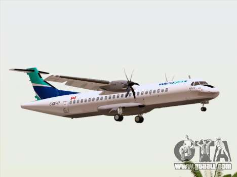 ATR 72-500 WestJet Airlines for GTA San Andreas upper view