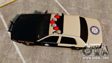 Ford Crown Victoria 1999 Florida Highway Patrol for GTA 4 right view