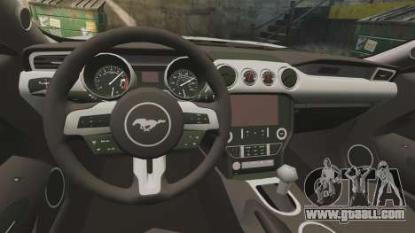 Ford Mustang GT 2015 Cheng Guan Police for GTA 4 inner view