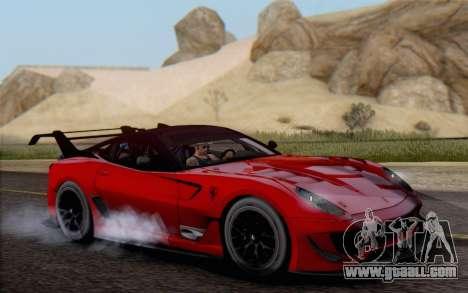 Ferrari 599XX Evolution for GTA San Andreas right view