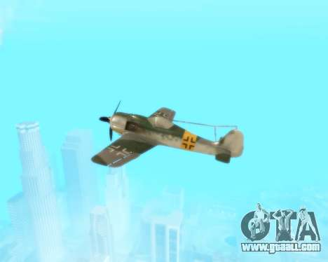 Focke-Wulf FW-190 F-8 for GTA San Andreas side view