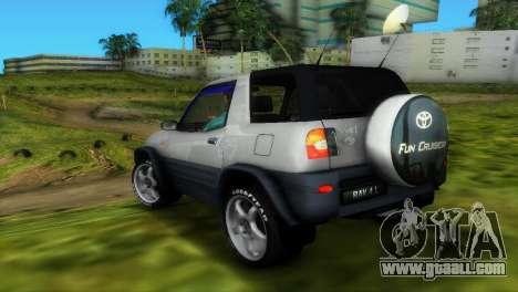 Toyota RAV 4 L 94 Fun Cruiser for GTA Vice City upper view