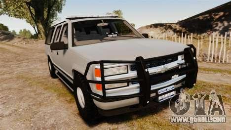 Chevrolet Suburban 1999 Police [ELS] for GTA 4