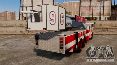 MTL Firetruck Tower Ladder FDLC [ELS-EPM] for GTA 4 back left view