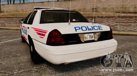 Ford Crown Victoria 2008 LCPD Patrol [ELS] for GTA 4 back left view