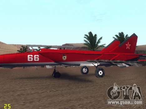 MiG 25 for GTA San Andreas interior