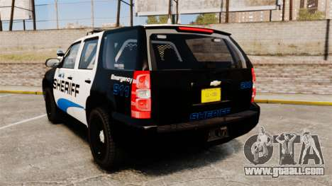 Chevrolet Tahoe 2008 Federal Signal Valor [ELS] for GTA 4 back left view