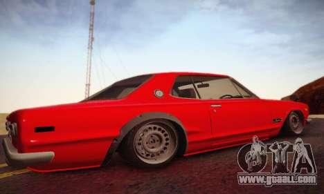 Nissan Skyline 2000GTR 1967 Hellaflush for GTA San Andreas back view
