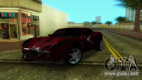 Lotus Elise for GTA Vice City back view