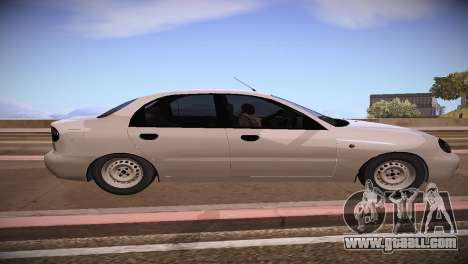 Daewoo Lanos for GTA San Andreas left view