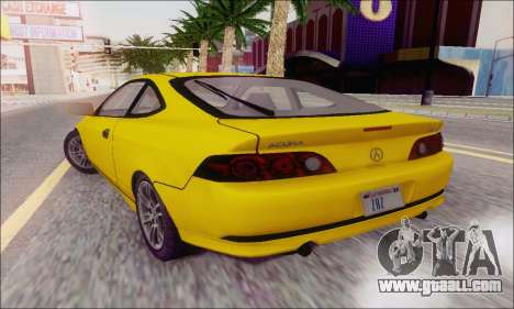 Acura RSX for GTA San Andreas back view