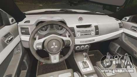 Mitsubishi Lancer Evo X Humberside Police [ELS] for GTA 4 inner view