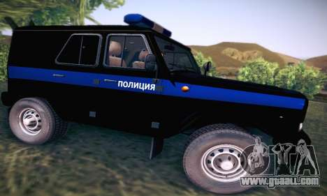 Uaz Hunter Police for GTA San Andreas back view
