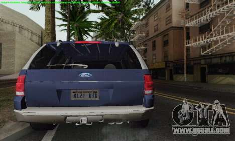 Ford Explorer 2002 for GTA San Andreas upper view