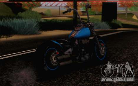 Harley-Davidson Knucklehead for GTA San Andreas left view
