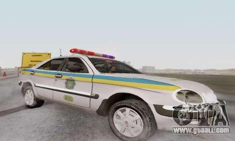 GAS-3111 Miliciâ Ukraine for GTA San Andreas left view