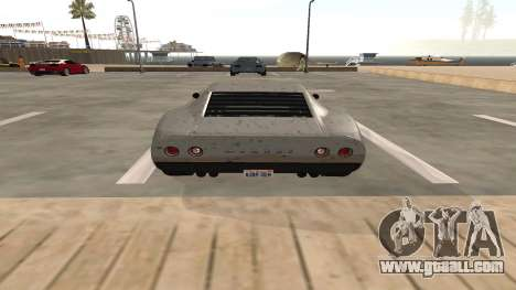 Monroe of GTA 5 for GTA San Andreas back view
