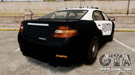 GTA V Vapid Steelport Police Interceptor [ELS] for GTA 4 back left view