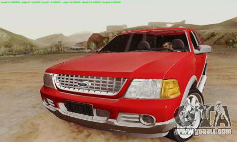 Ford Explorer 2002 for GTA San Andreas left view