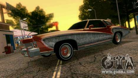 Chevy Monte Carlo Lowrider for GTA Vice City left view