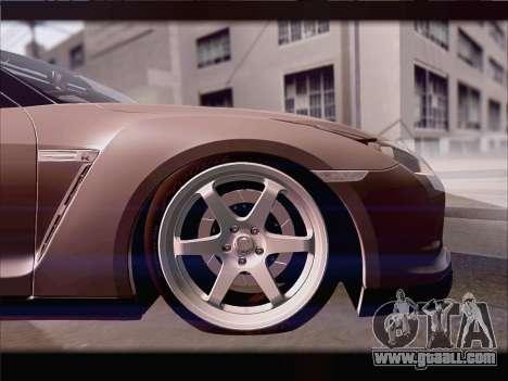 Nissan GT-R Spec V Stance for GTA San Andreas inner view