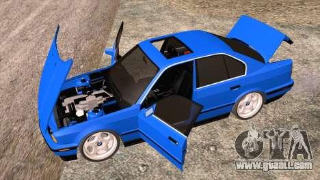 BMW 535i E34 Mafia Style for GTA San Andreas inner view