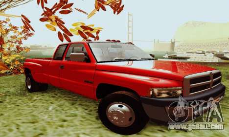 Dodge Ram 3500 for GTA San Andreas left view