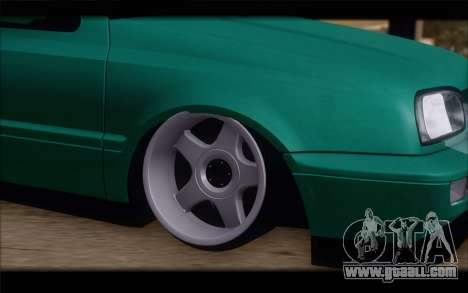 Volkswagen Golf Mk3 for GTA San Andreas back left view