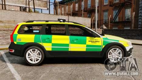 Volvo XC70 Paramedic [ELS] for GTA 4 left view